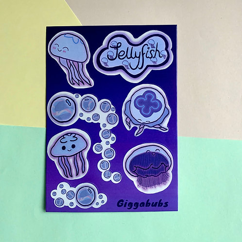 Floating Jellyfish - Stickers