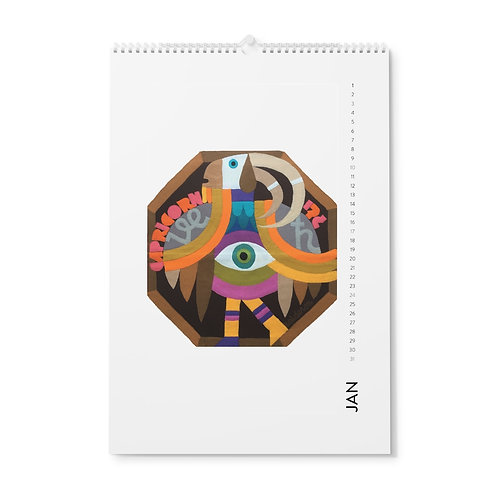 Zodiac Vertical Wall Calendar 2021, Monthly art Calendar