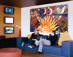 i THE CREATION Wall tapestry in a hotel loby.jpg