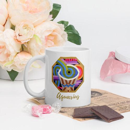 Aquarius Mugs, Astrology, Constellation, Coffee Mug, Zodiac Gift