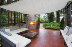Back Patio fireplace