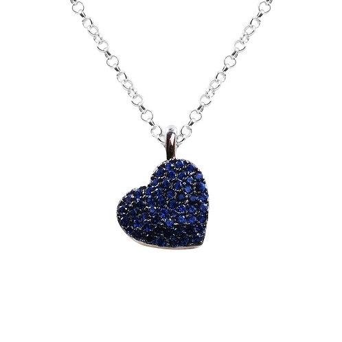 Ciondolo cuore e pietre blu BBC24/1/8