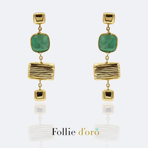 FOLLIE ORO Orecchini donna oro e pietre O67006