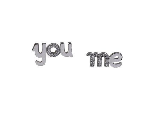 """Orecchino """"you and me"""" e pietre crystal BHO12/1/1C"""