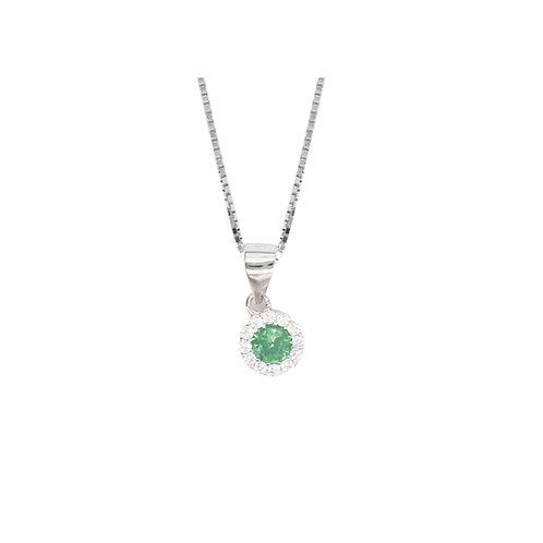 Ciondolo pietra verde e crystal BDC2/1/2C