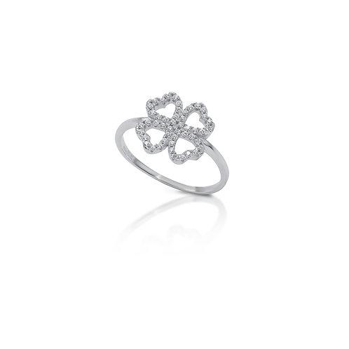 Anello quadrifoglio e pietre crystal BGA9/1/1C/12