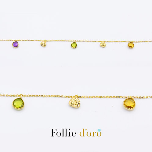 FOLLIE ORO Bracciale donna oro e pietre B67017