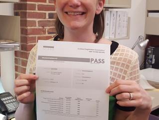 Lauren Kinker passes final ARE