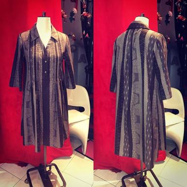 Robe sur mesure en coton japonais