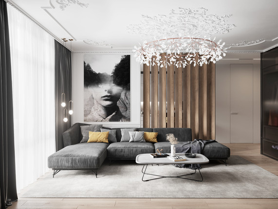 Modern interior  Location: France  Client : AXYburo