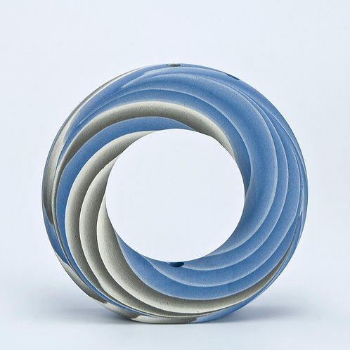 Ring Vase, Blue and Grey 05