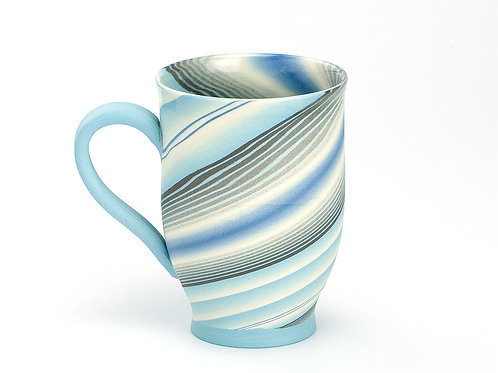 Turqoise/Light blue Neriage Mug