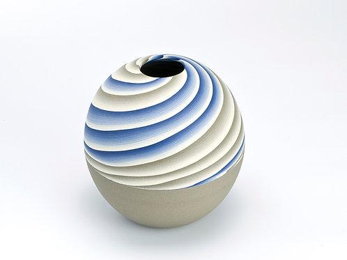 Neriage round vase