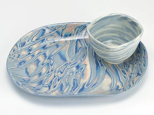Tray & dip bowl set