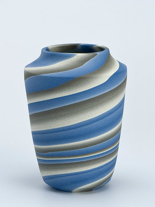 Mini vase, Blue and Grey 02