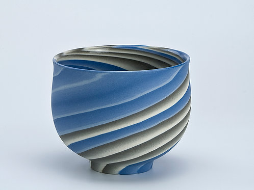 Bowl, Blue and Grey 01