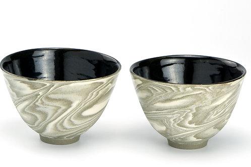 Beige Marble mini bowl set (2)