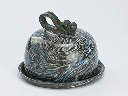 Marble butter dish