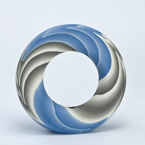 Ring Vase, Blue and Grey 02