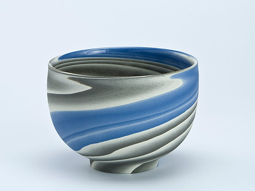 Teabowl, Blue and Grey