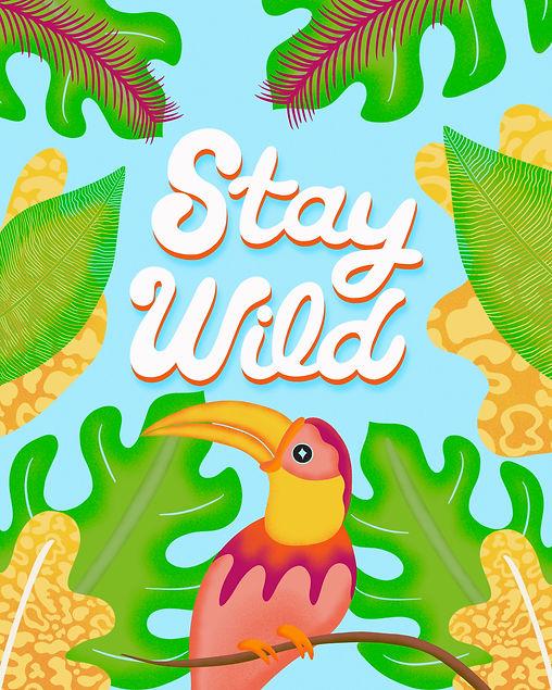 Stay Wild Bird Tropical Vibes Leticia Romano Leti