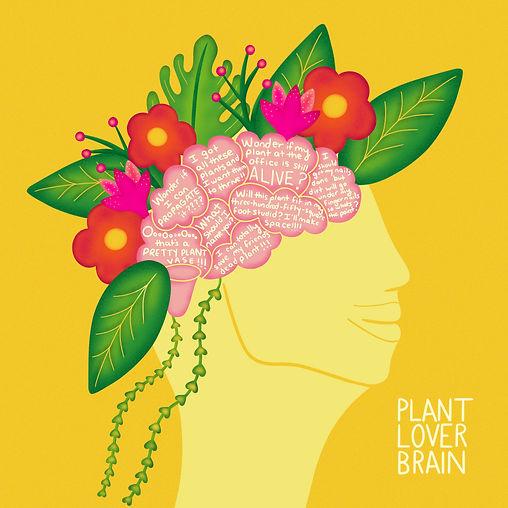 Plant Lover Brain Flowers Leaf Leticia Romano Leti Brain