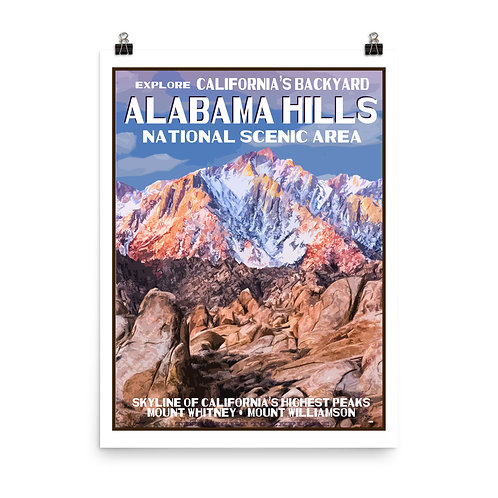 Alabama Hills Poster
