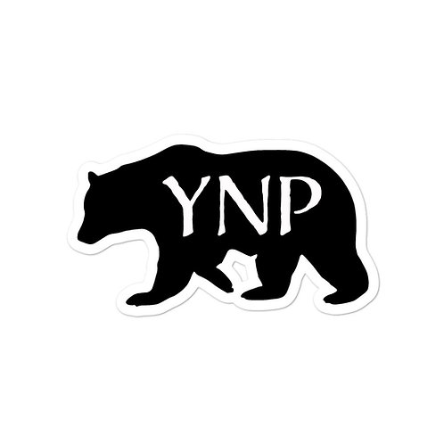 YNP Grizzly Bear Sticker