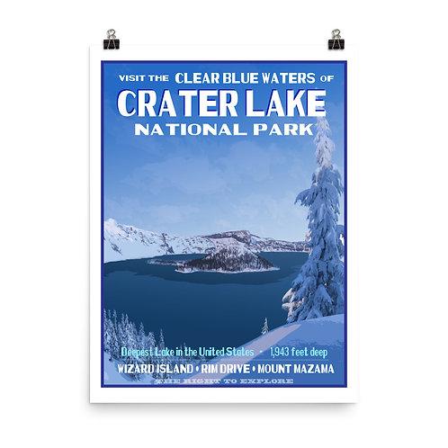 Crater Lake National Park Poster