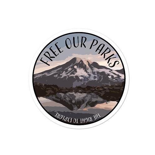 Free Our Parks Mount Rainier Sticker