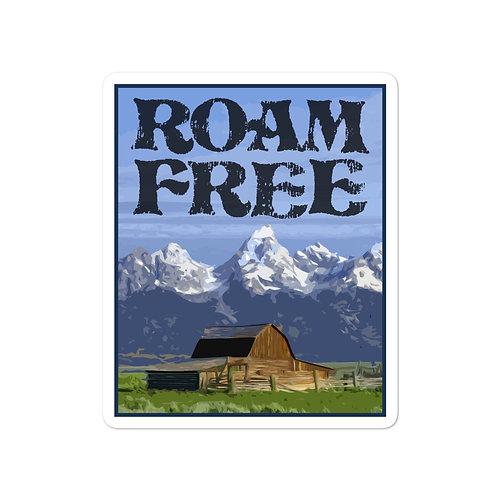 Roam Free Grand Teton Sticker