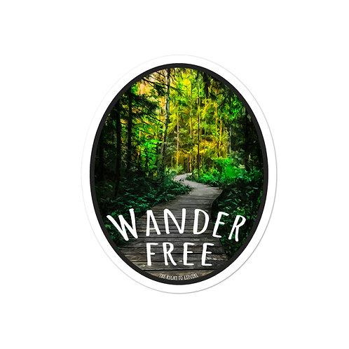 Wander Free Bubble-free stickers