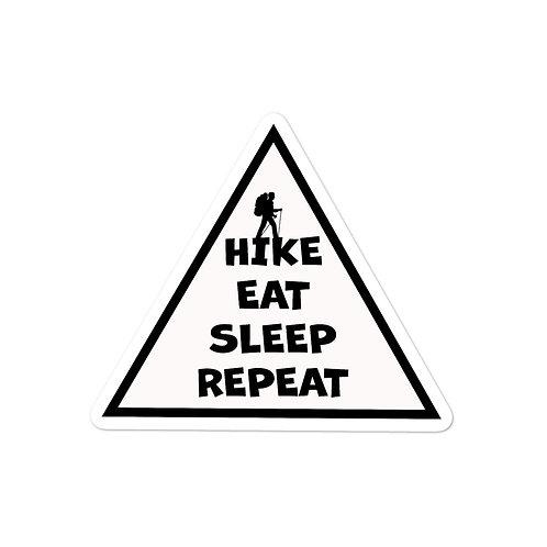 Hike Eat Sleep Repeat Sticker