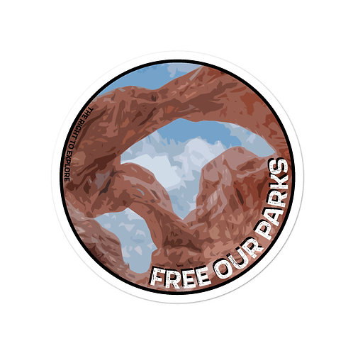 Free Our Parks Double Arch Sticker