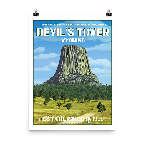 Devil's Tower National Monument Poster