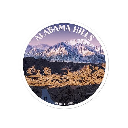 Alabama Hills Bubble-free stickers
