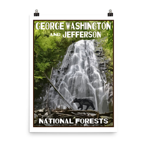 George Washington and Jefferson National Forests Poster