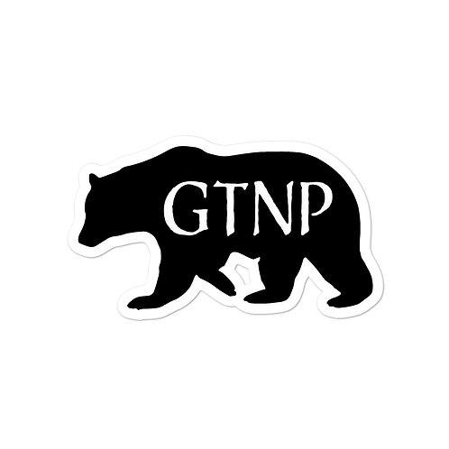 Grand Teton National Park Bear Sticker