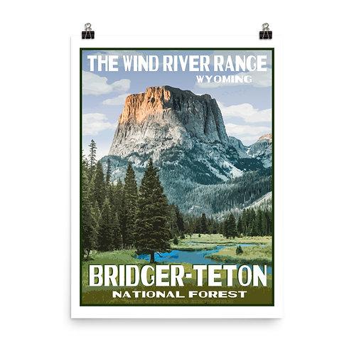 Bridger-Teton National Forest Poster