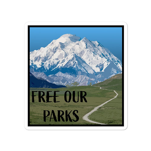 Free Our Parks Denali Sticker