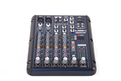 MICKLE 6 CHANNEL MIXER WITH DSP EFFECTS & MP3 PLAYER