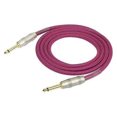 Kirlin IW-241PRGPU 1/4'' Mono Düz Uç 3 Metre Kablo