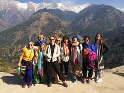 En los Himalayas.