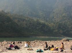 Práctica de Gong en el Ganges.