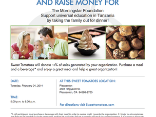 Sweet Tomatoes Fundraiser