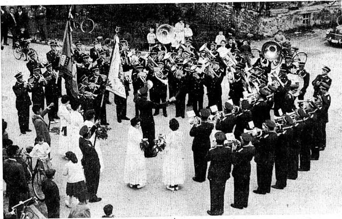 40ème anniversaire de la fanfare l'Avenir en 1959