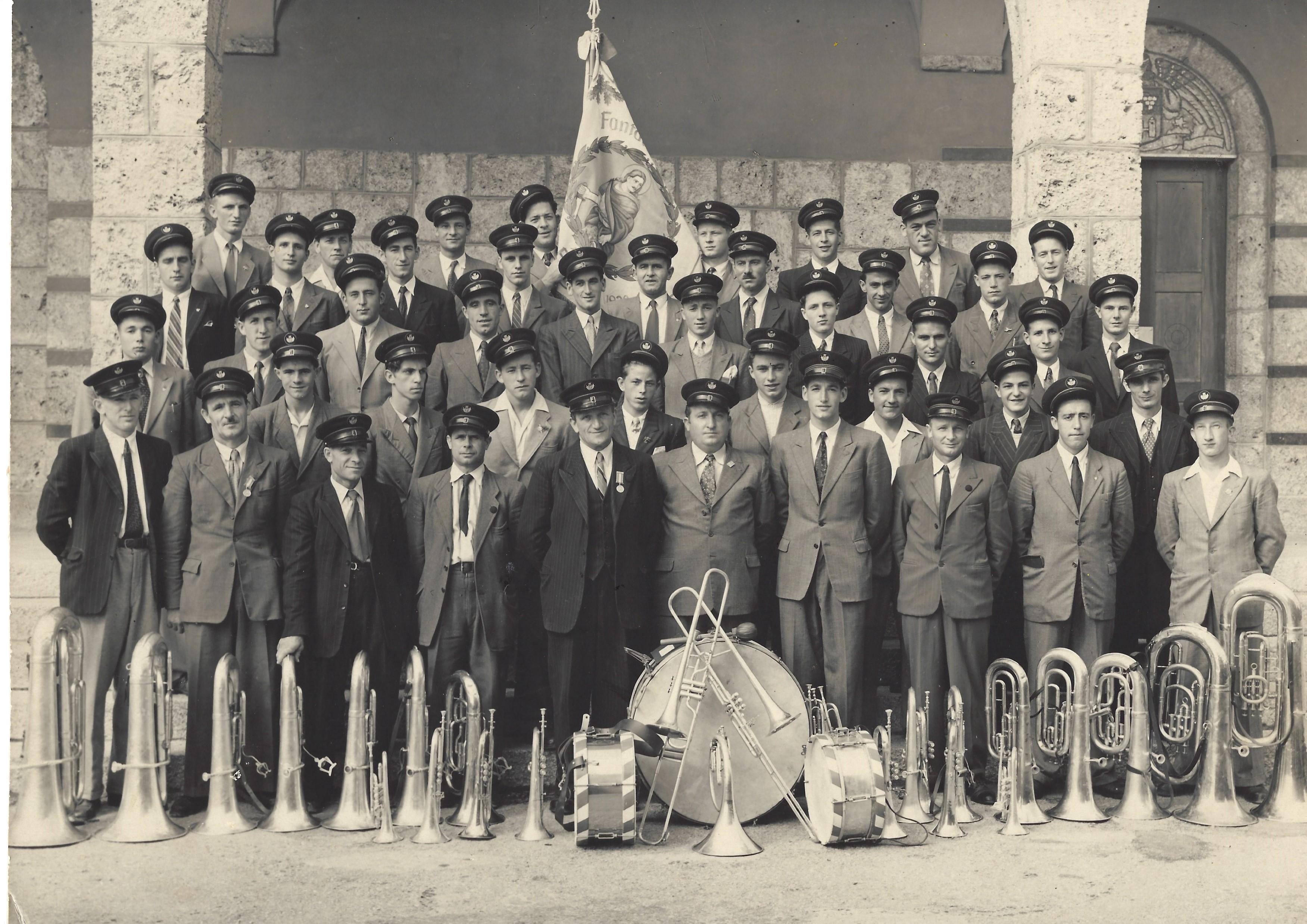 30ème anniversaire de la fanfare l'Avenir en 1949