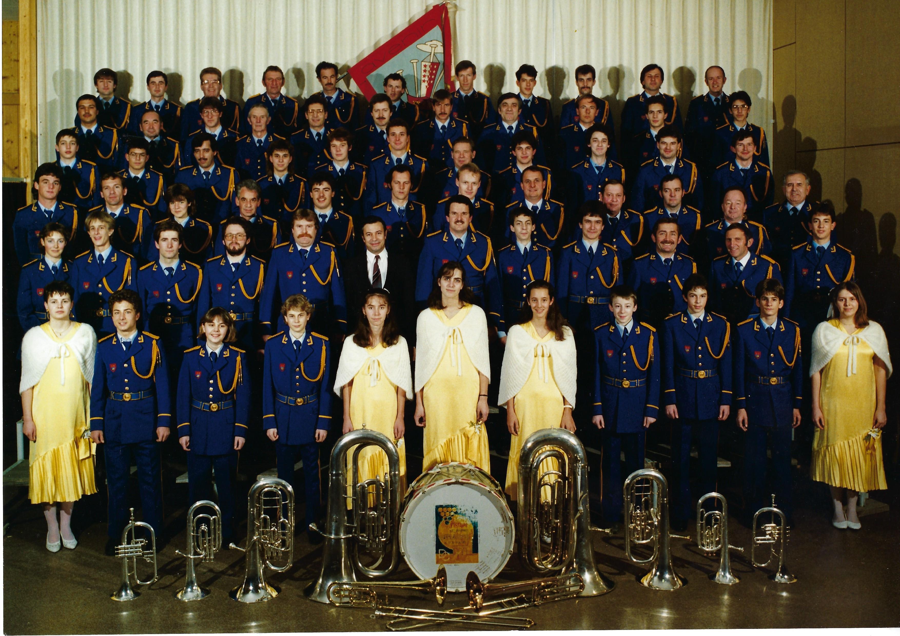 70ème anniversaire de la fanfare en 1989