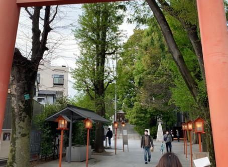 赤城生涯学習センターと赤城神社の様子