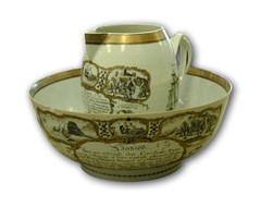 Chinese Export Punch Bowl & Pitcher